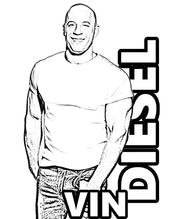 vin diesel free picture for coloring vindiesel actor
