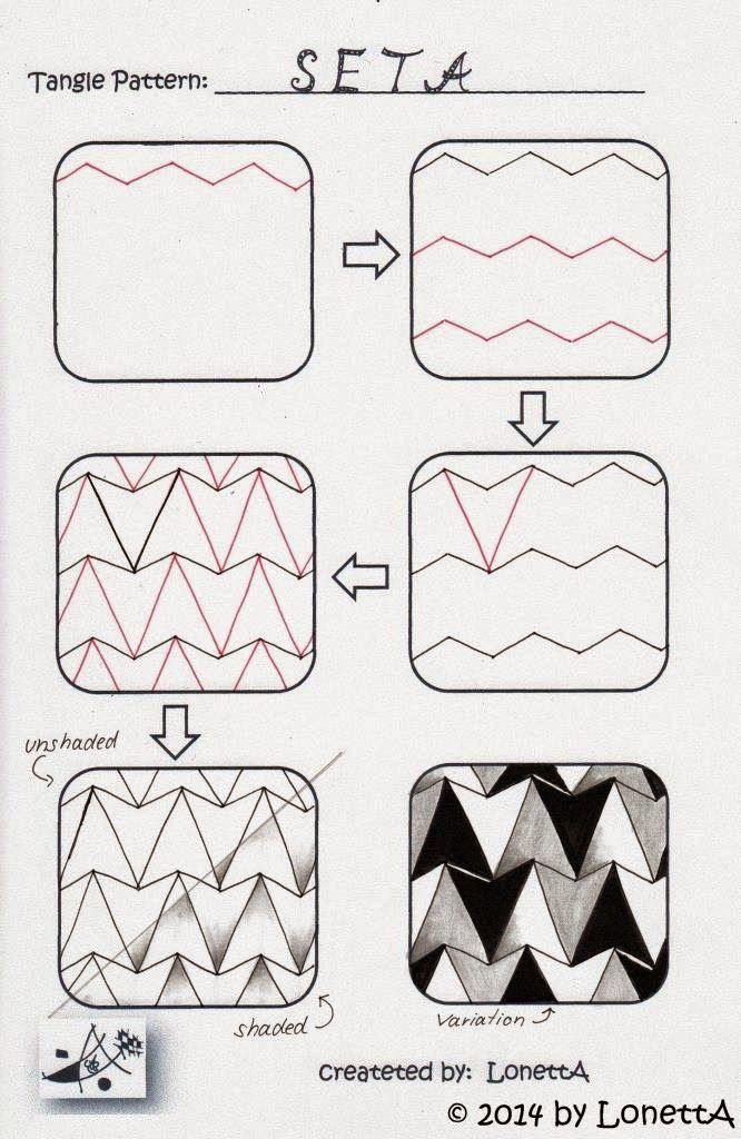 2014 12 Seta Zentangle Pinterest Anleitungen Zentangle Und