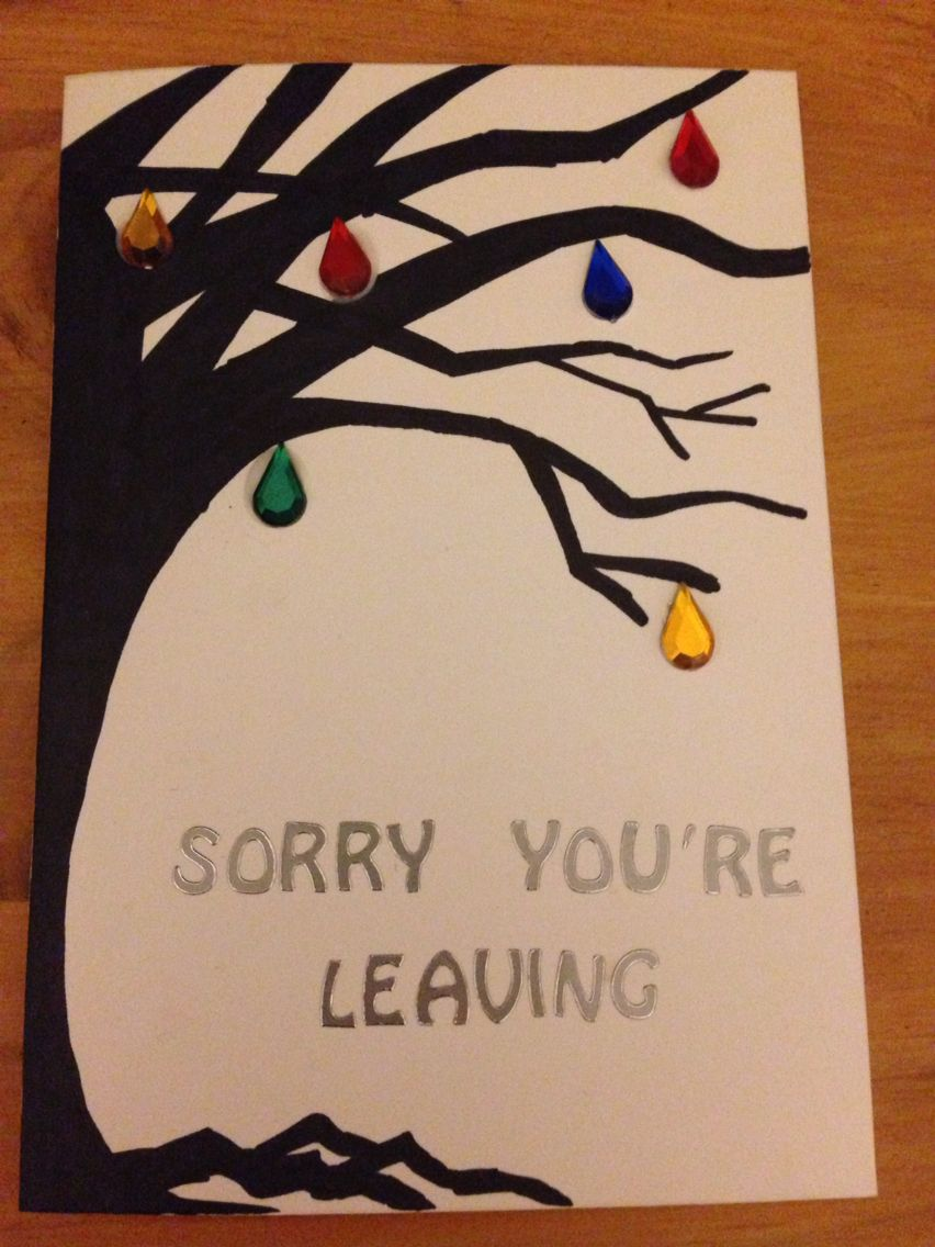 leaving card making ideas