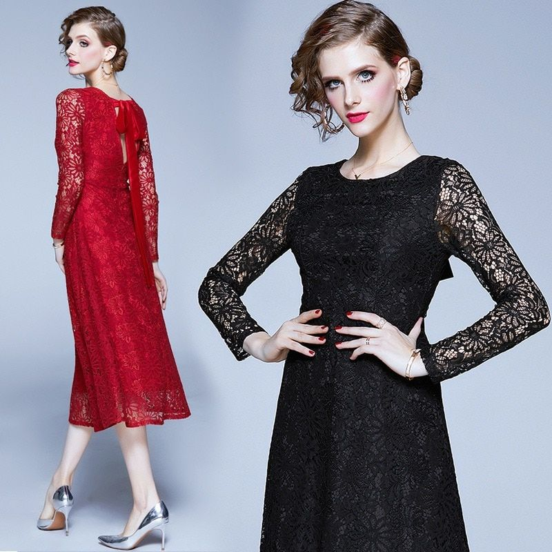 #cinessd #2020 #explosion #models #spring #and #summer #new #ladies #temperament #lace #dress #in #long #dresses