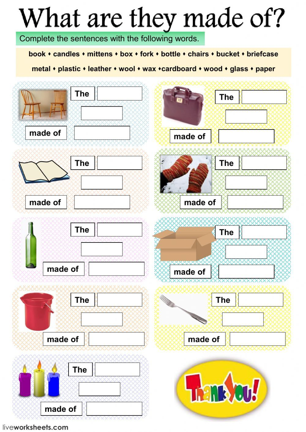 Materials Interactive And Downloadable Worksheet You Can