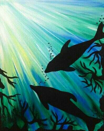 Pin By Geanna Hall On Crafts Painting Dolphin Painting Art