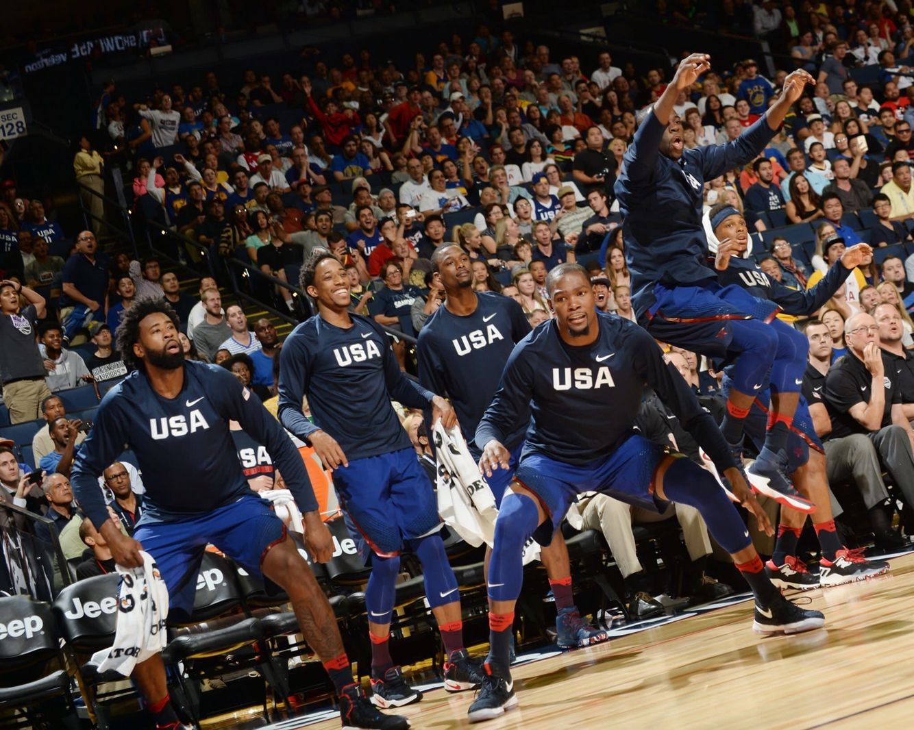 In Kevin Durant S Debut Game In Oakland California Team Usa Bests Team China 2016 Final Score 107 57 At Team Usa 2018 Nba Champions Golden State Warriors