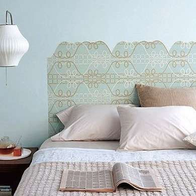 12 Off The Wall Places To Put Wallpaper Wallpaper Headboard