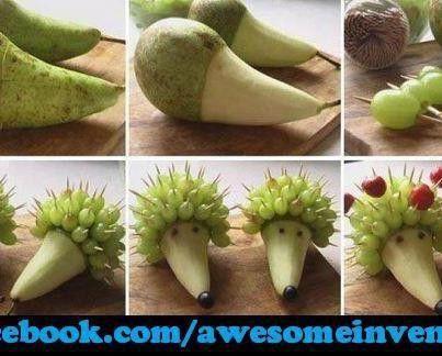Hedgehog fruit tray
