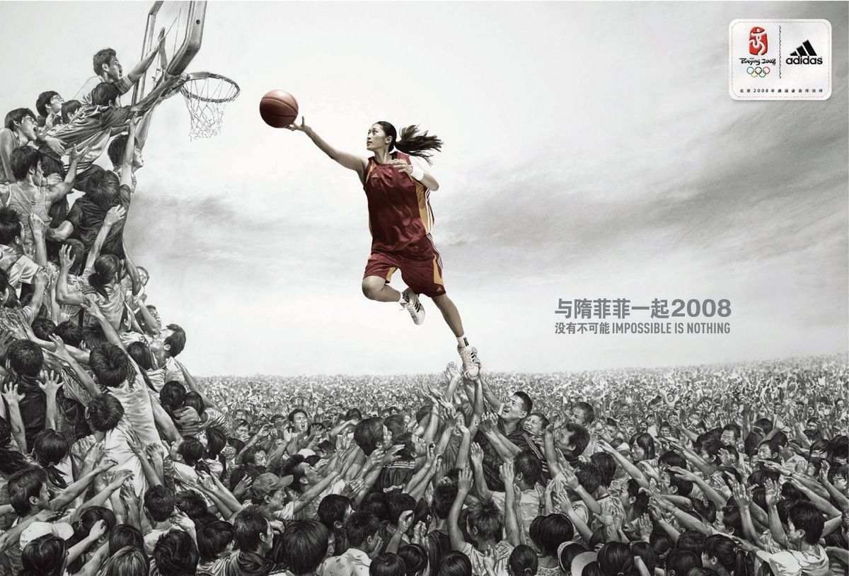 Chinese Italian And French Olympics Ads Sports Advertising Print Ads Best Ads