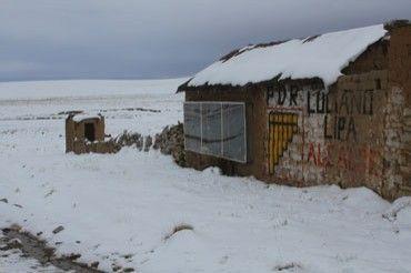 Viviendas de Puno en tiempos de helada