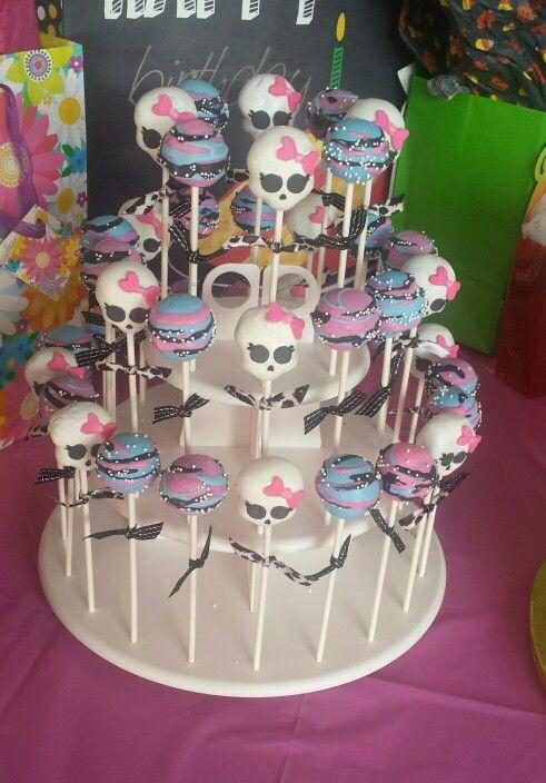 Mimi Gs Monster High Cake Pops Bday Pinterest Monster high