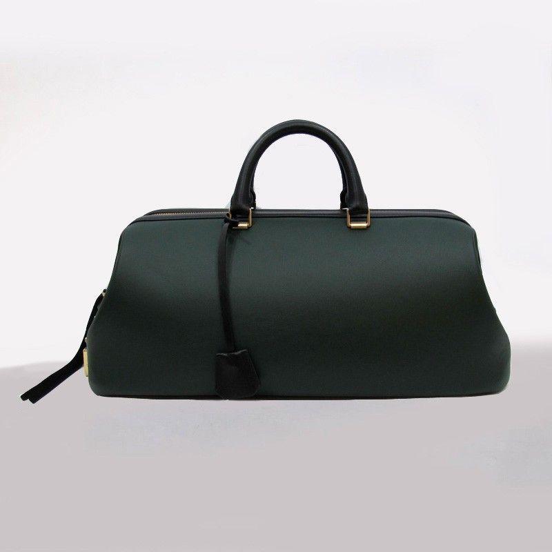 Celine Doctor Bag Leather Dark Green