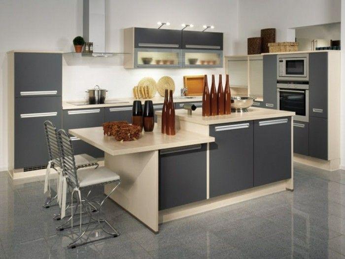 wohnideen küche einzelne module und unterschiedliche arbeitshöhen - küchen von ikea