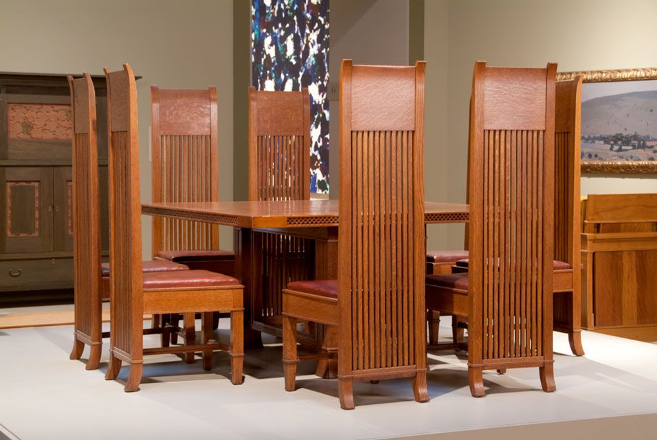huntington library acquires 13 important pieces of frank lloyd wright furniture chairs. Black Bedroom Furniture Sets. Home Design Ideas
