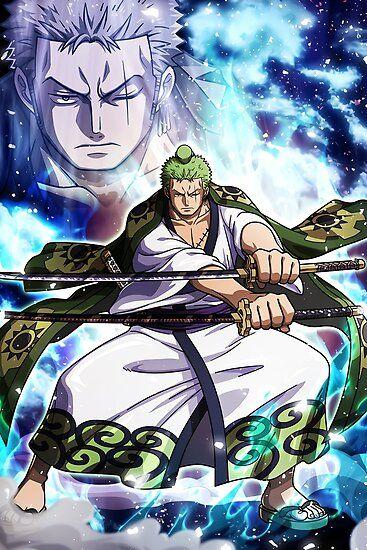 Roronoa Zoro Wano One Piece Poster Anime ảnh Tường Cho điện Thoại Phim Hoạt Hinh