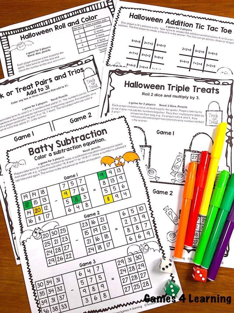 Halloween Math Games Halloween math games, Halloween