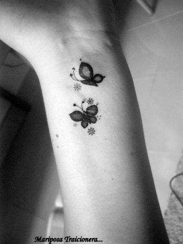 1dfff3292 40 Creative Butterfly Tattoos For Inspiration   Tattoo   Wrist ...