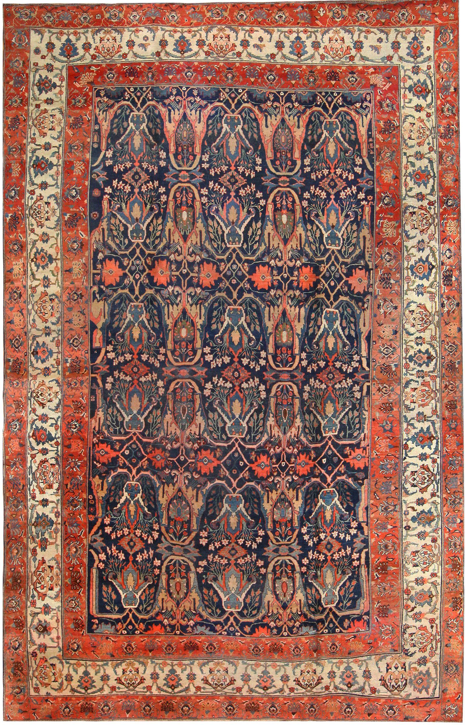 Antique Bidjar Persian Carpet 50217 By Nazmiyal Collection Persian Carpet Antique Persian Rug Rugs