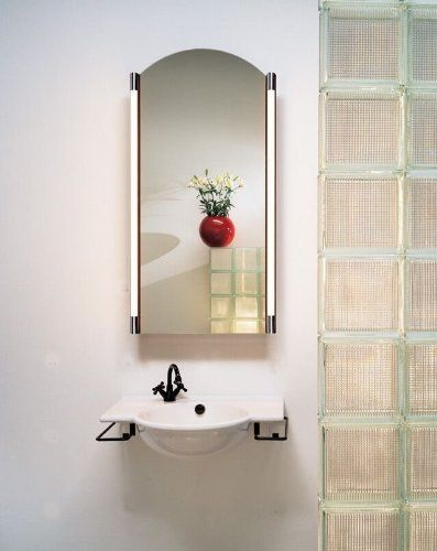 Robern Arched Bathroom Mirror By 1154 86 Cabinets Mt20d6apre Edge Plain Configuration Electrical Outlet Door Defogger