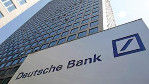 Univers on Deutsche Bank logo typography Job, Deutschland