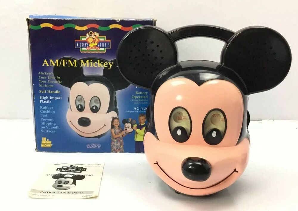 Vintage Mickey Mouse Am Fm Radio The Singing Machine D 021 W Box And Manual Thesingingmachine Vintage Mickey Mouse Vintage Mickey Mickey Mouse