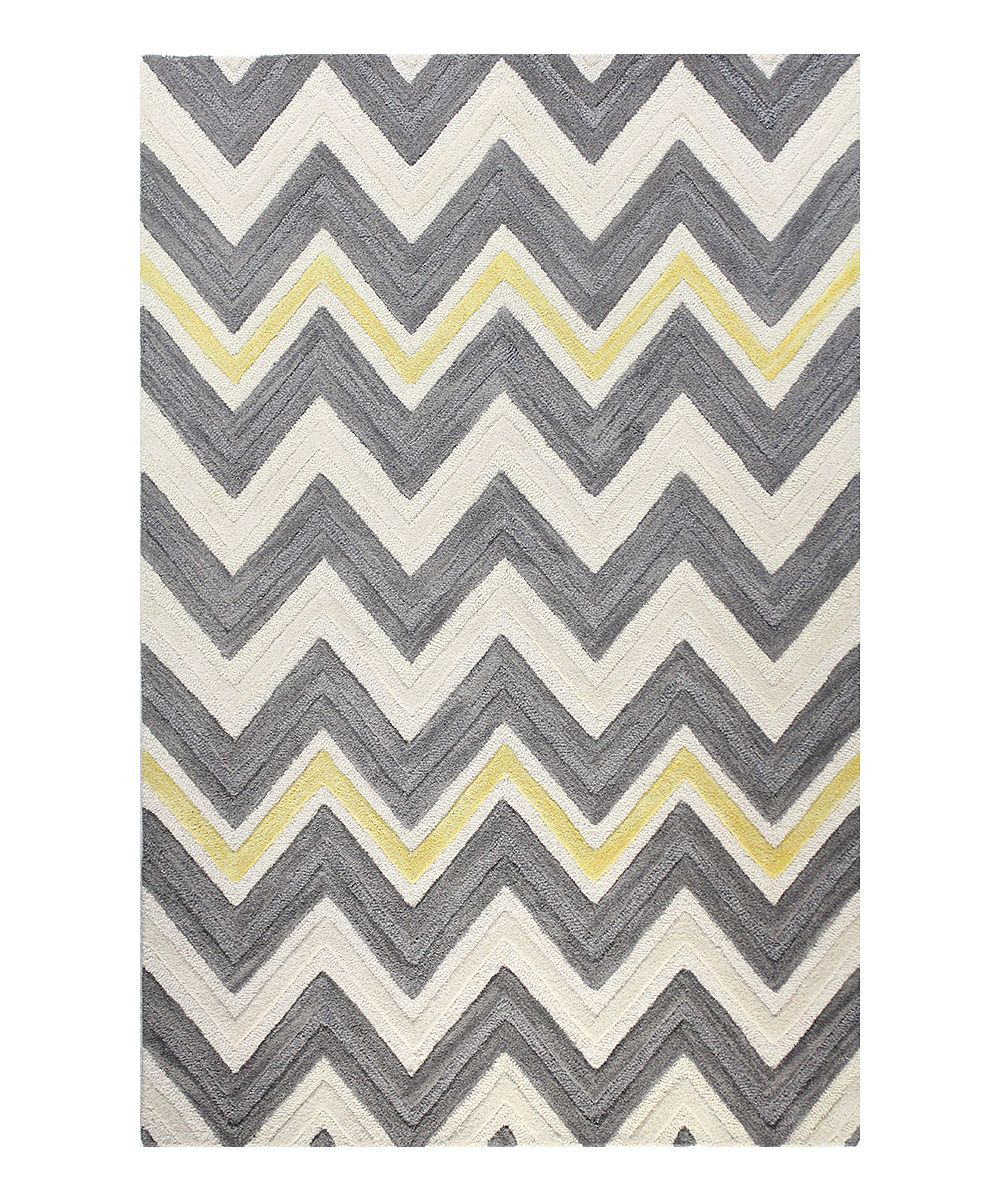 Lovve This Rugggg Yellow And Grey Chevron Perfection For