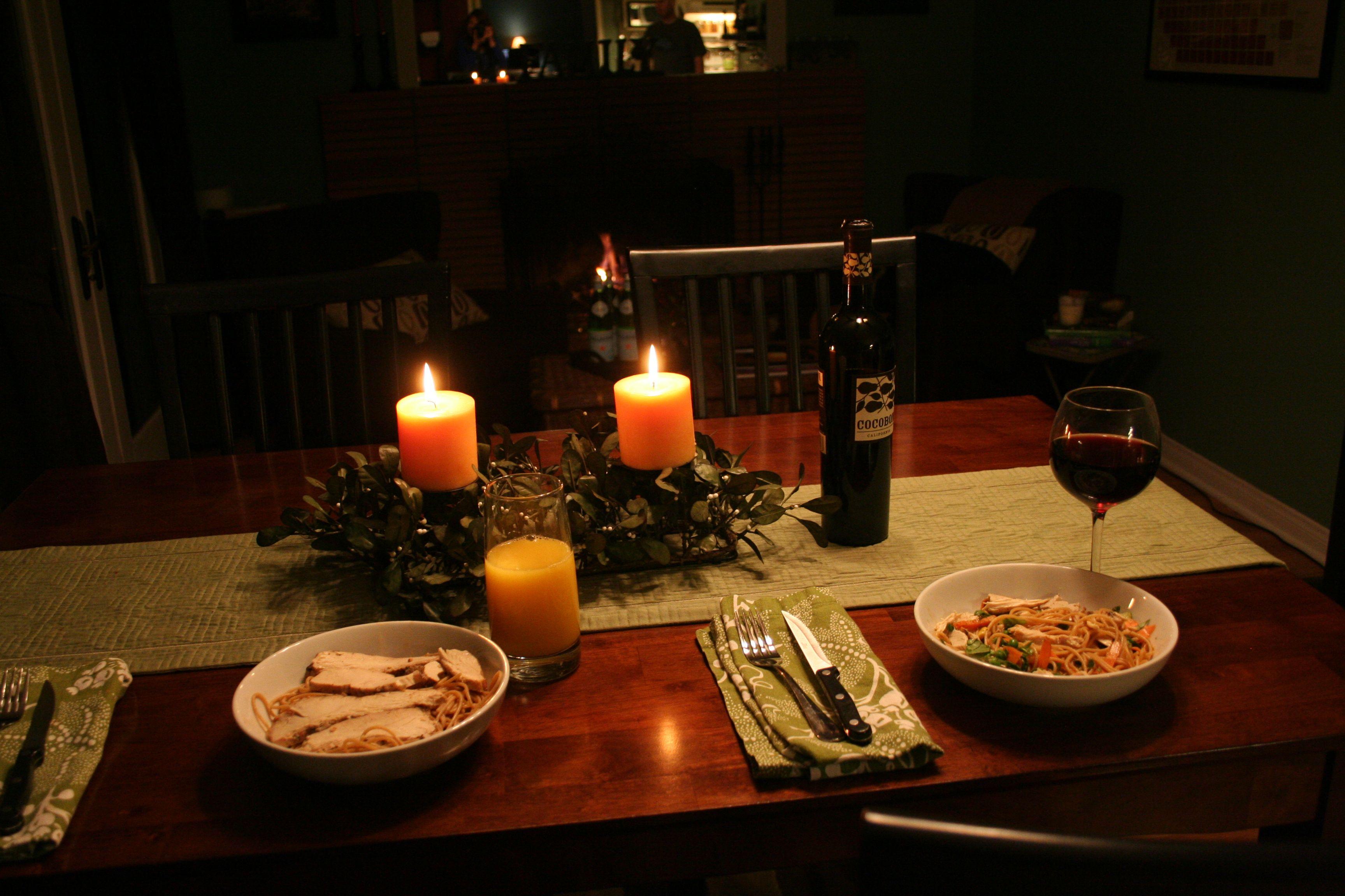Cena para dos cena rom ntica en casa pinterest - Ideas para una cena romantica en casa ...