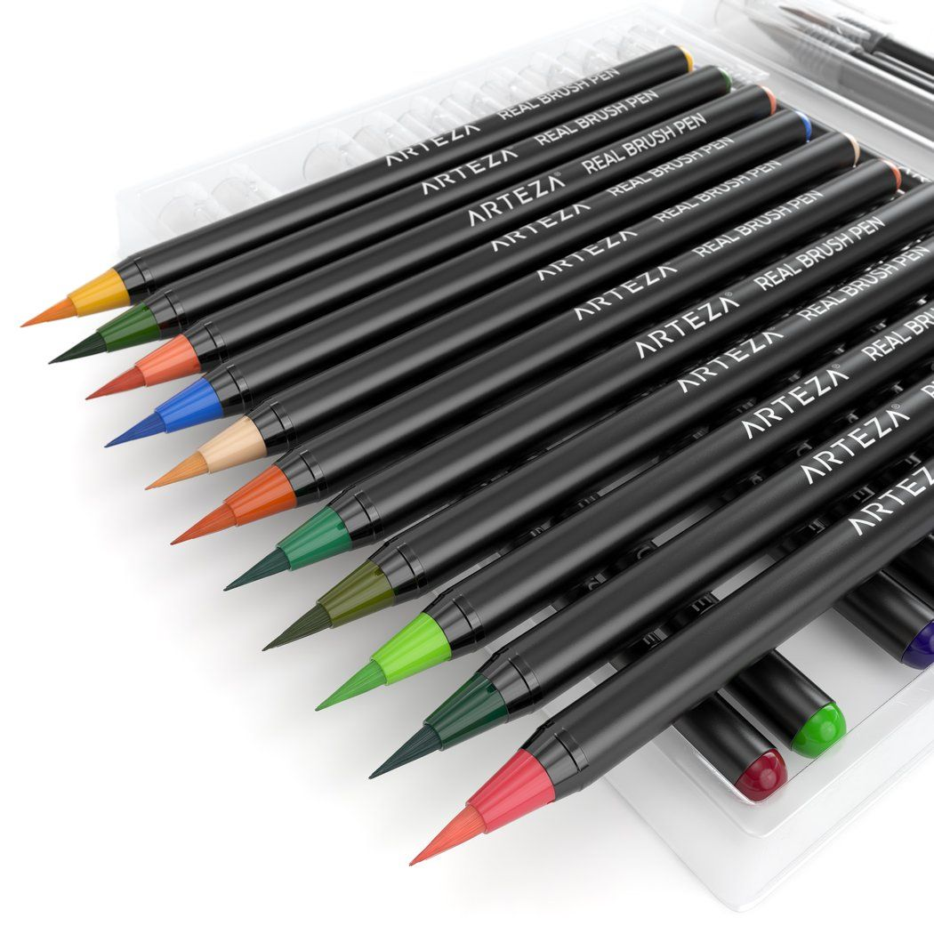 Real Brush Pens Set Of 24 Brush Pen Water Brush Pen Pen Sets