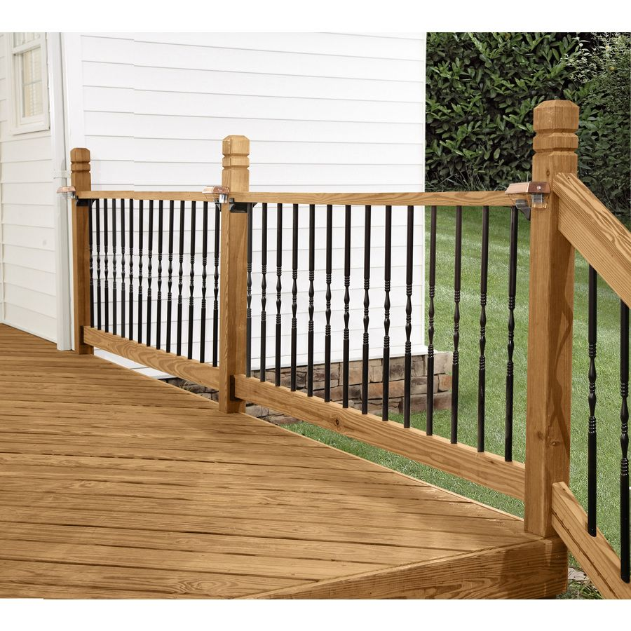 Best Shop Deckorators 10 Pack 26 In Black Aluminum Colonial Baluster At Lowes Com Lowes Wood Photo 400 x 300