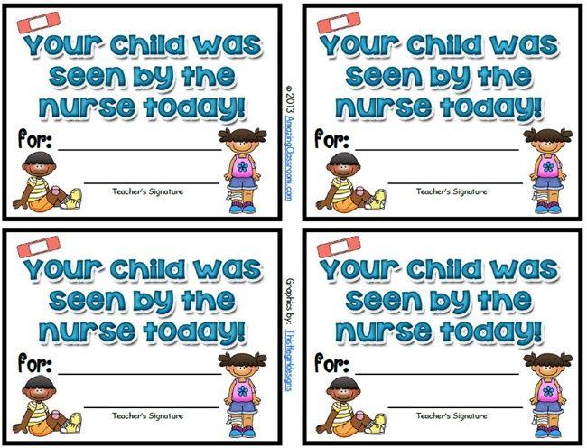 School Nurse Visitor Slips {Printable | School nurse | Pinterest ...
