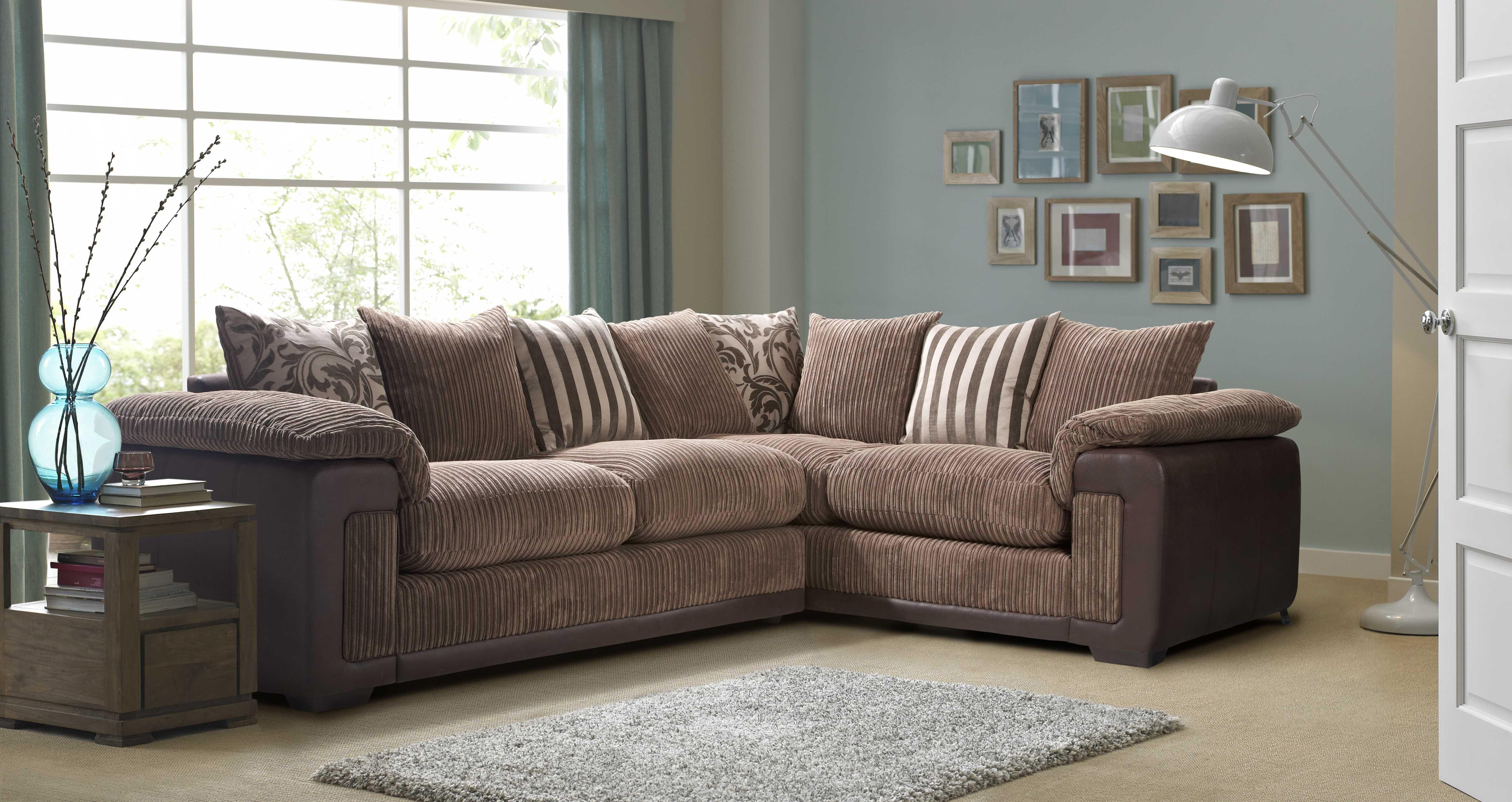 Infinity Left Hand Facing Pillow Back Corner Deluxe Sofa Bed
