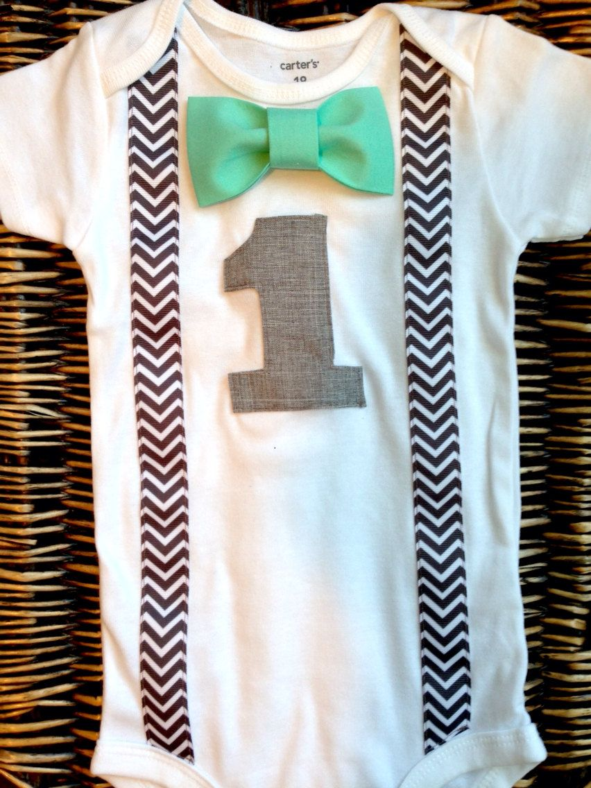 6c9a6962e49ad Boys First Birthday Outfit - Baby Boy Clothes - Grey Chevron ...