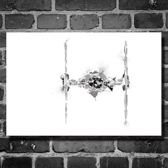Star Wars vehicle movie poster minimalist poster star wars art Tie Fighter