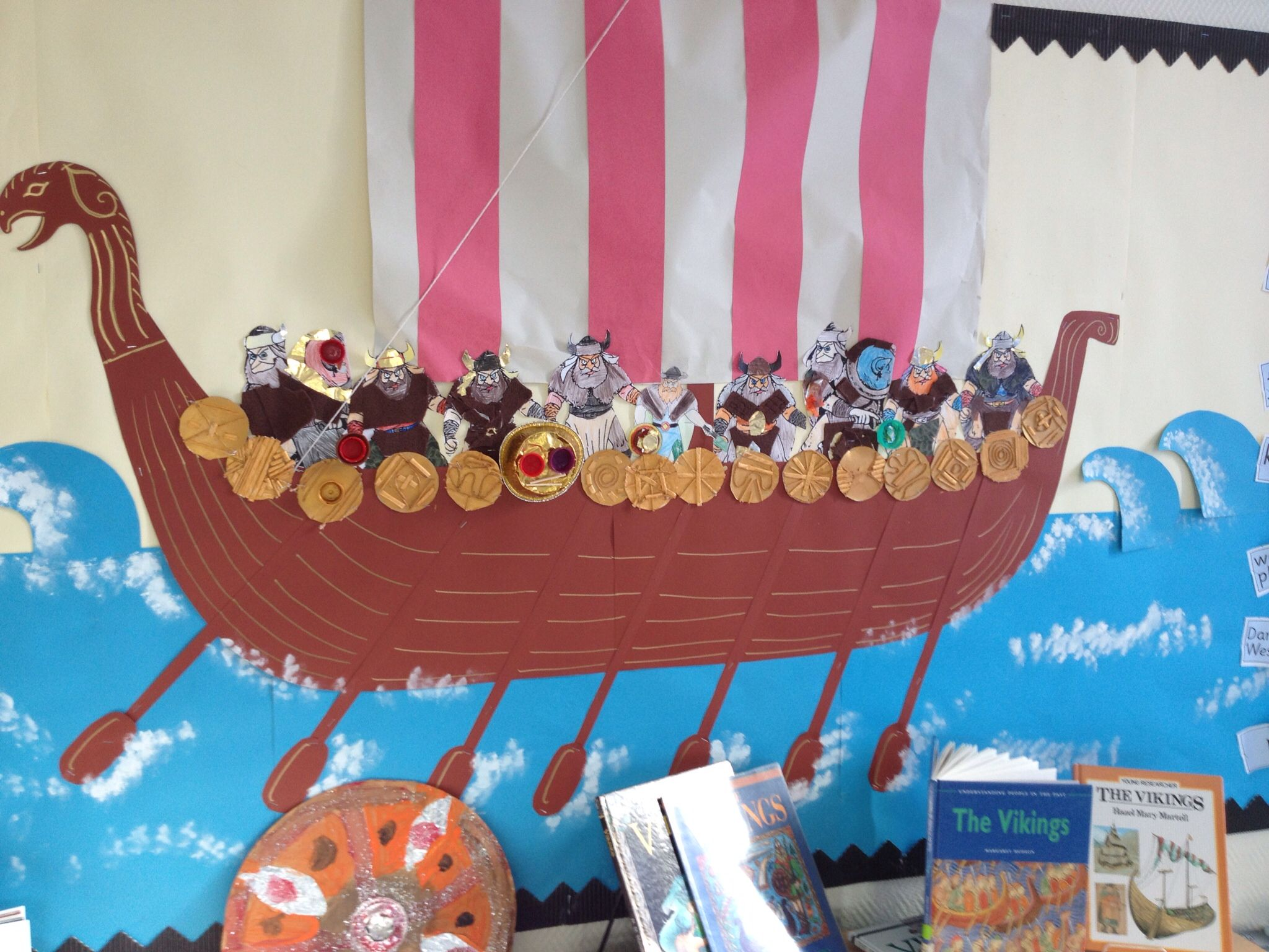 Year 4 Viking Display Longboat