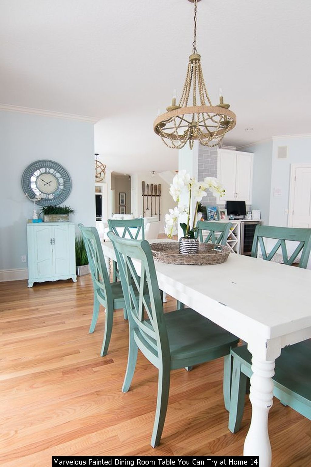 30 Marvelous Painted Dining Room Table You Can Try At Home In 2020 Painted Dining Room Table Coastal Dining Room Dining Room Table