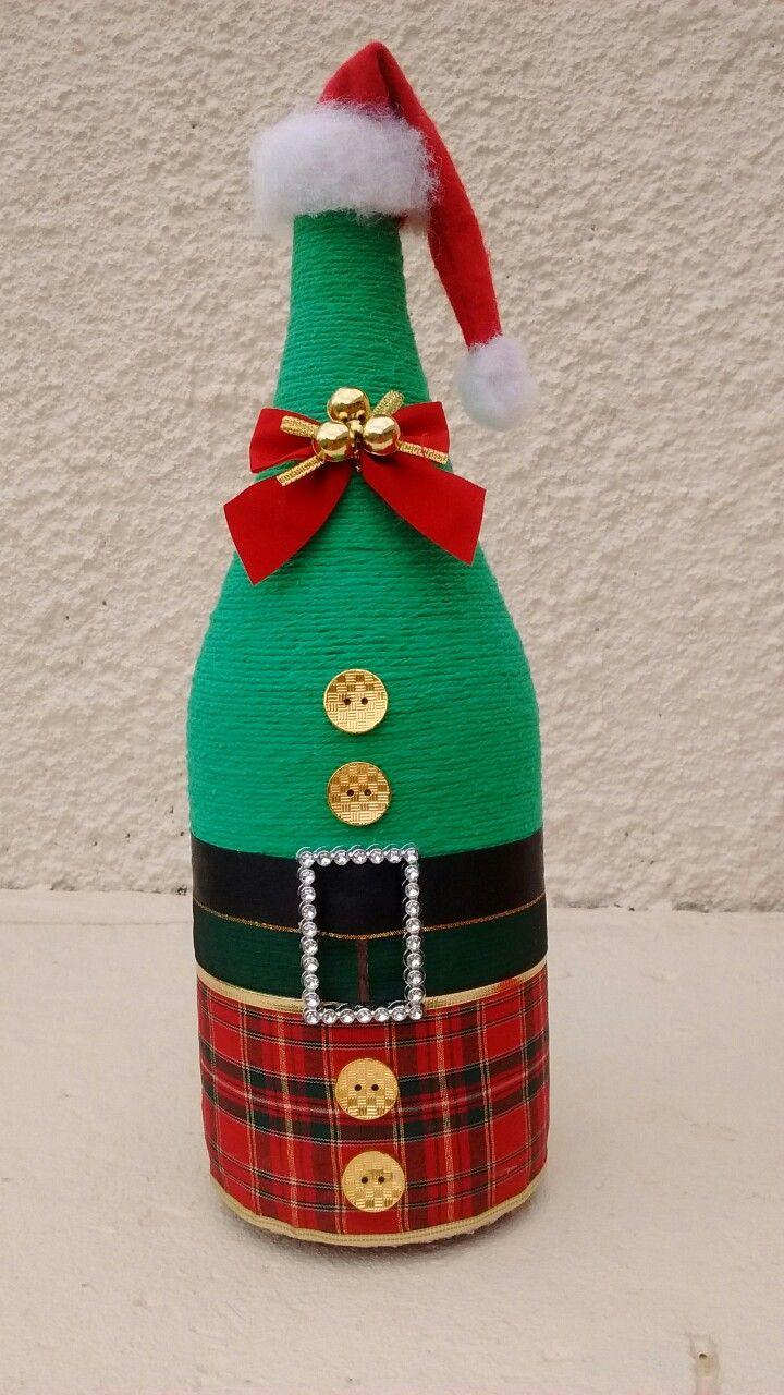 Navidad navidad navidad botellas decoraci n de for Adornos navidenos reciclados botellas