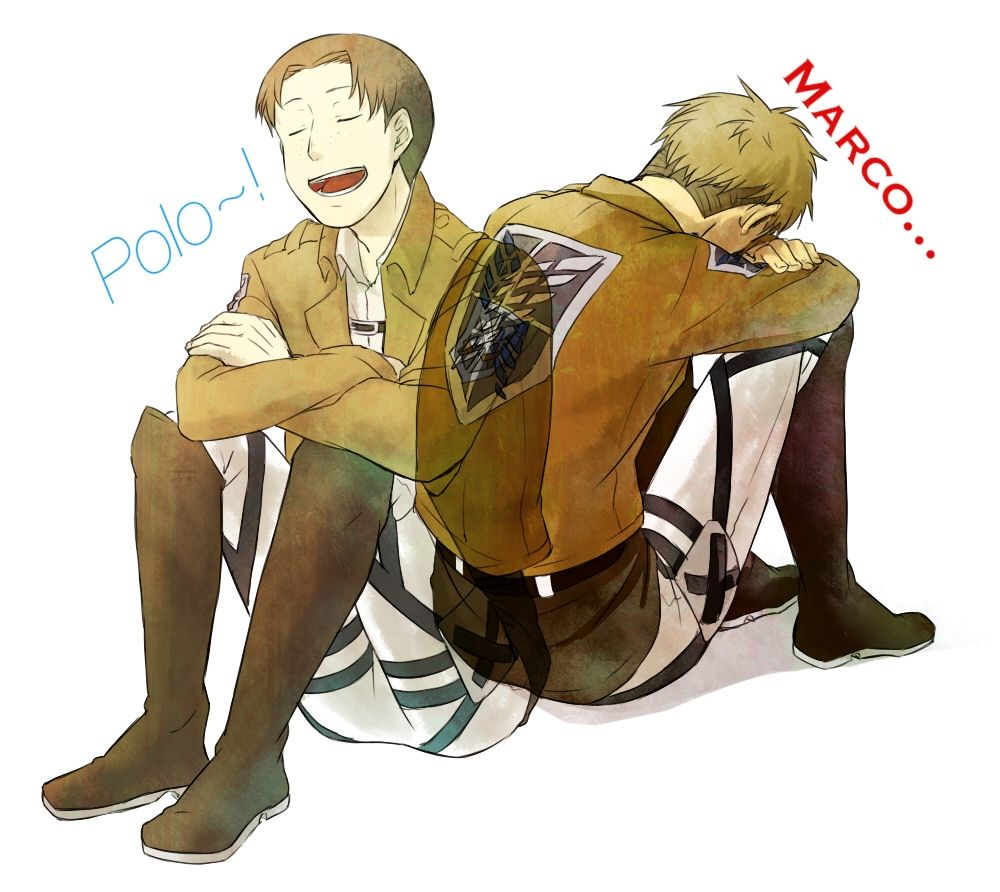Jean and Marco feels everywhere! Photo edit by yours truly  I didn't draw the picture Attack on Titan!!!