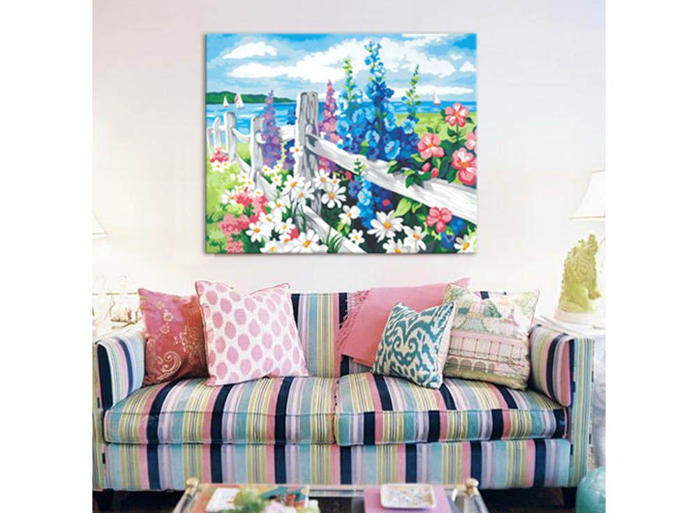Картина по номерам «За околицей» | Картины, Раскраска по ...