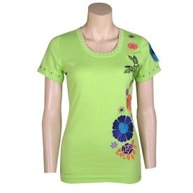 Top - Lime Green Embroidered - TOPS & TEES - LADIES | Pinto Ranch