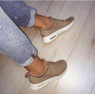 Tan Beige Shoes Brown Sneakers Nike Running Nikes kO08ZwPNnX