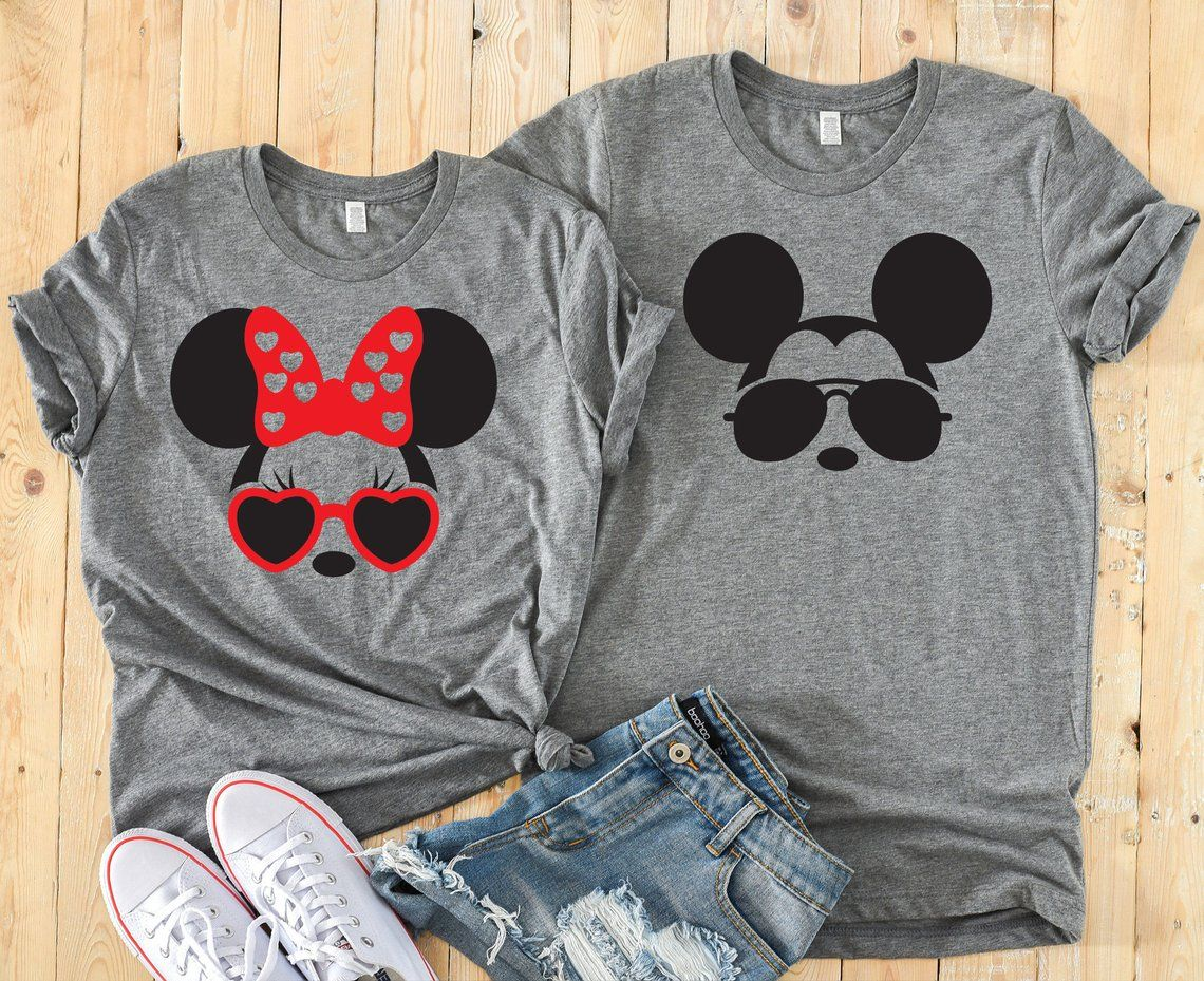 ****DISNEY MICKEY MOUSE SUNGLASSES**PERSONALIZED*FABRIC//T-SHIRT IRON ON TRANSFER