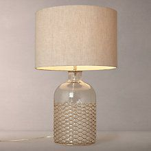 Buy John Lewis Croft Kingsley Glass and Wire Table Lamp Online at ...