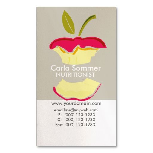 Apple dietician nutritionist weight loss health business card dietician nutritionist weight loss health business cards this great business card design is available for customization all text style colors colourmoves