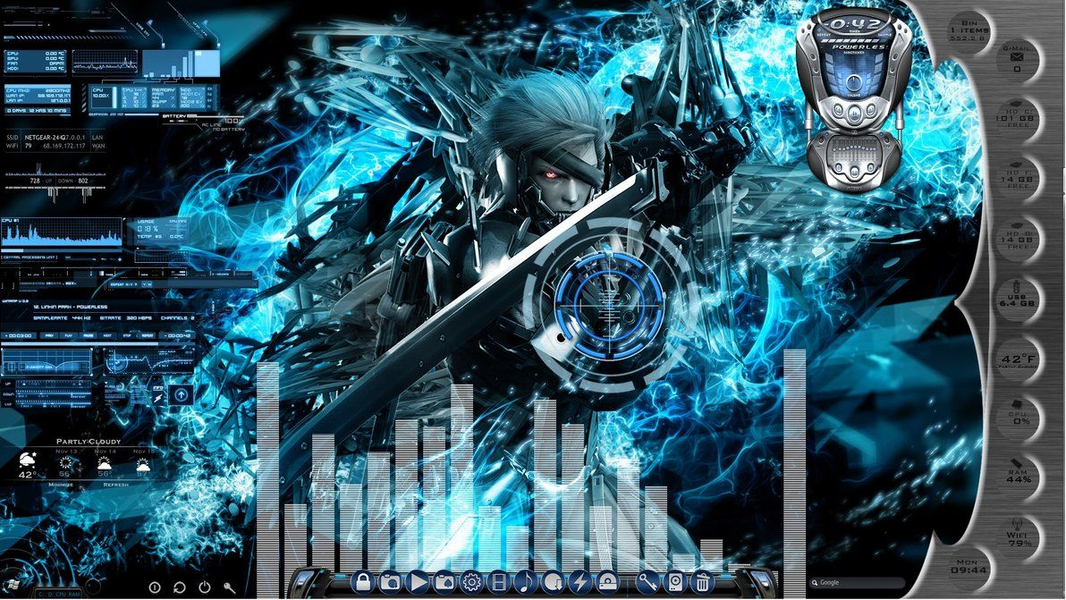 Metal Gear Rising Animated Desktop For Rainmeter By Ionstorm01