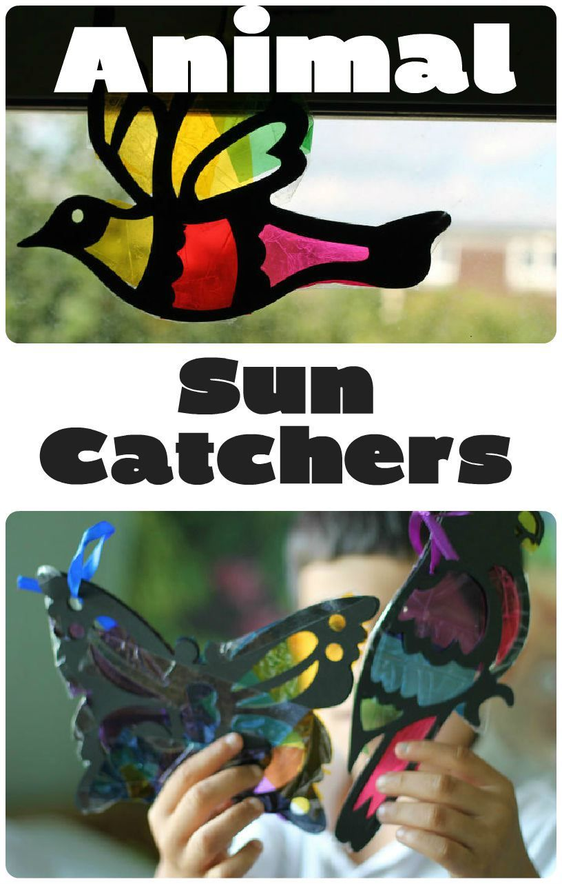 Stained Glass Sun Catchers Kid Crafts Hand And Foot