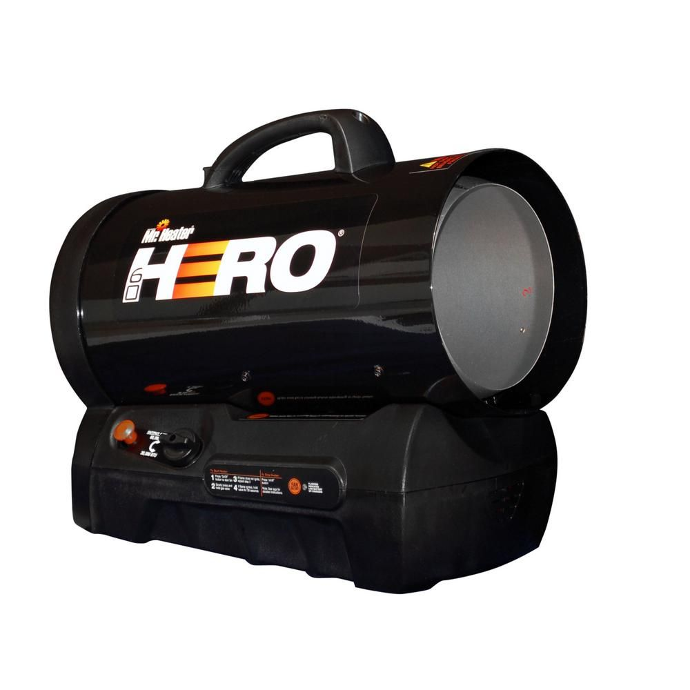 Mr Heater 60 000 Btu Forced Air Propane Hero Heater Mh60clp Propane Heater Forced Air Heater