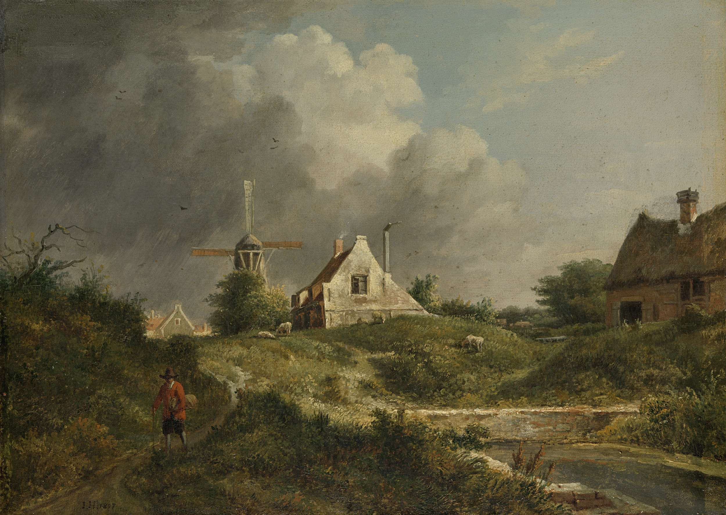 Landschap in het Gooi, Jan Hulswit, 1807