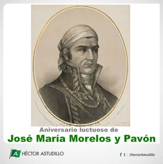 Conmemoramos el 22 de diciembre el aniversario luctuoso del Siervo de la Nación, el Generalísimo José María Morelos y Pavón, el más grande humanista de la América Septentrional, cuyos conceptos vertidos hace más de doscientos años, aun tienen vigencia en nuestros días.