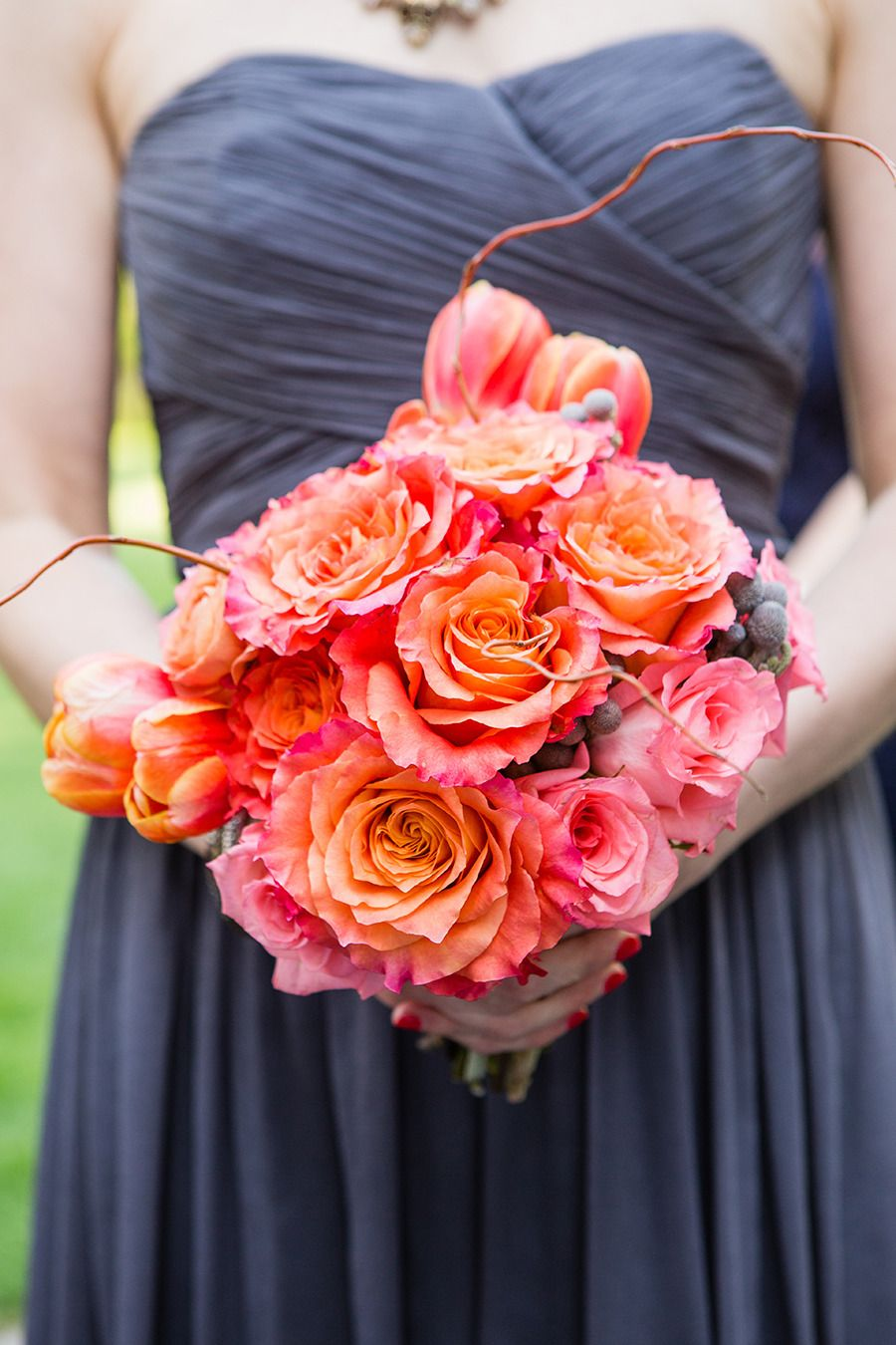 Bright and beautiful bouquet: http://www.stylemepretty.com/2015/04/13/traditional-spring-shadowbrook-wedding/ | Photography: a guy + a girl photography - aguyandagirlphotography.com
