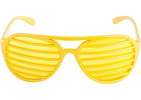 33622711431 Gold Shutter Glasses 6in x 2in - Party City