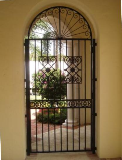 Wrought iron courtyard gates misc and