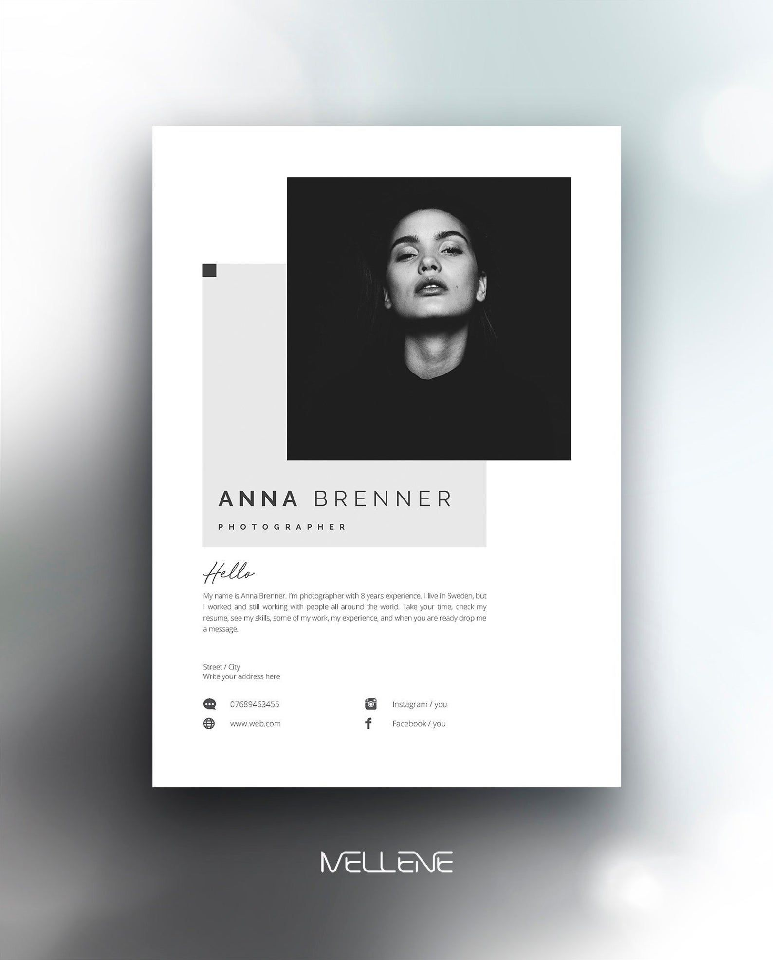 Resume Template 5 Page Cv Template Cover Letter Instant Download For Ms Word Anna Desain Cv Cv Kreatif Desain