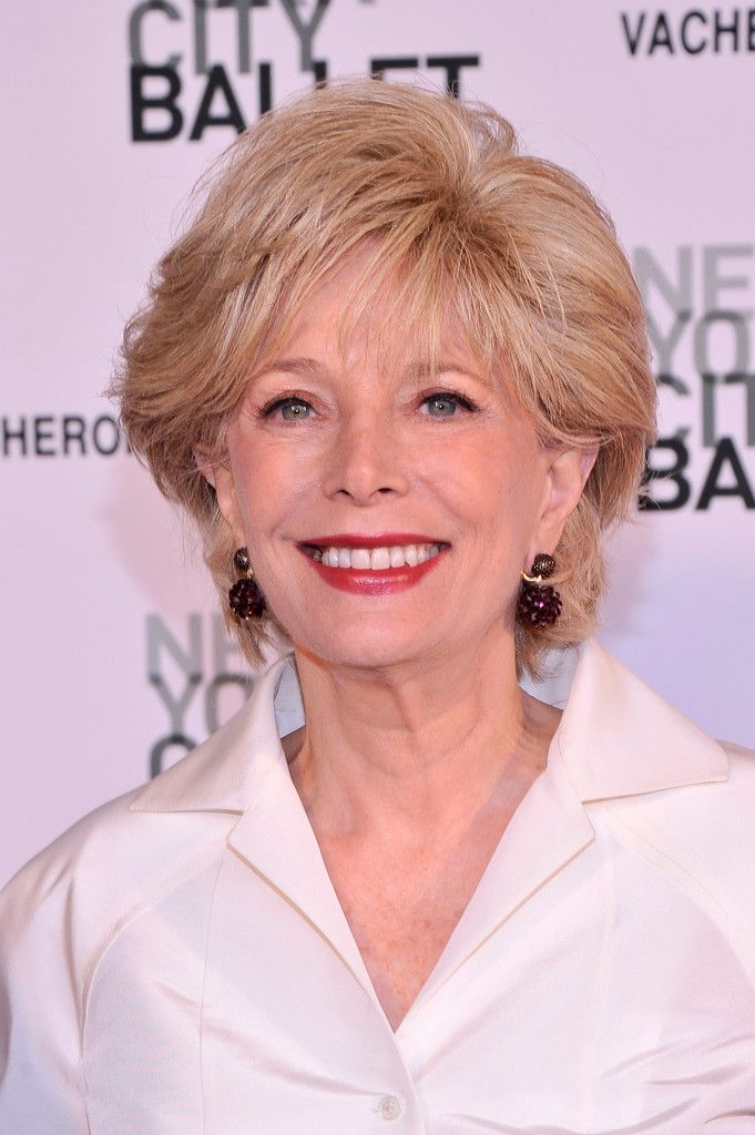 Lesley Stahl In Arrivals At The Nyc Ballets Spring Gala Gray Hair
